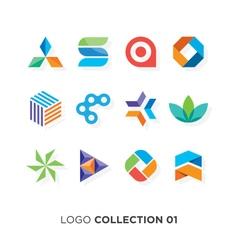 logo collection 01 vector image