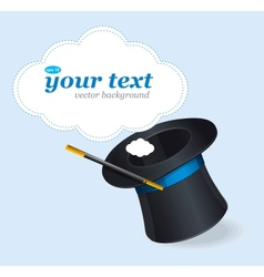 Magic hat and text vector image