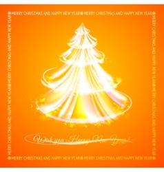 Orange tree of glowing stripes vector image vector image