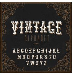Vintage Western alphabet Decorative vintage vector image
