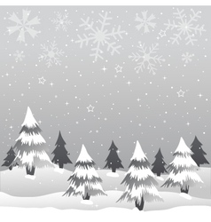 winter merry christmas vector image vector image