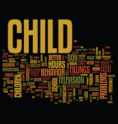 Your child has add text background word cloud vector