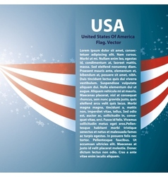 Background with USA stripes and text space vector image vector image