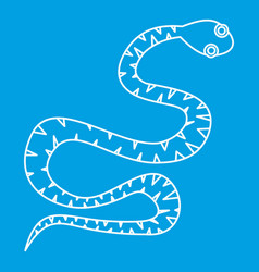 black snake wriggling icon outline style vector image vector image