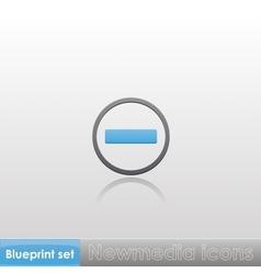 Blueprint set - Newmedia icons vector image vector image