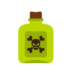 Poison icon flat style vector