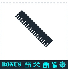 Ruler icon flat vector image