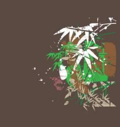 tropical jungel green vector image