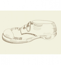 boot drawing vector image vector image