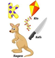 K alphabet vector image vector image