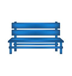 Rural bench in blue design vector