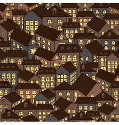 seamless houses background vector image
