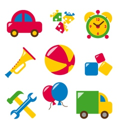 set baby toys vector image