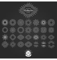 Set of starbursts for vintage logos vector