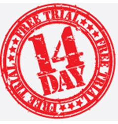 14 day trial vector image