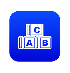 abc cubes icon digital blue vector image