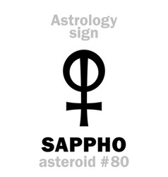 astrology asteroid sappho vector image