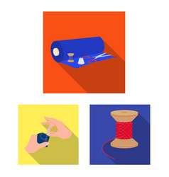 Atelier and equipment flat icons in set collection vector