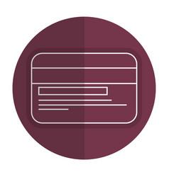 Bank money card vector