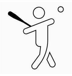 Baseball player icon vector