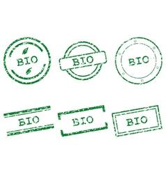Bio stamps vector
