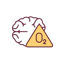 Brain hypoxia rgb color icon vector