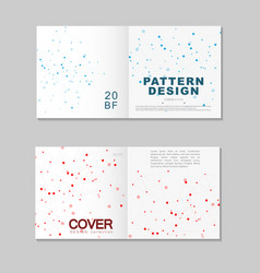 brochure template design abstract connect vector image