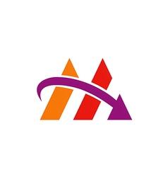 Business finance arrow abstract logo vector