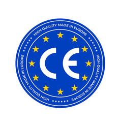 ce marking label or european conformity vector image