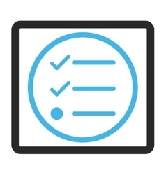 Checklist Framed Icon vector