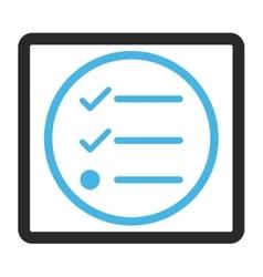 Checklist framed icon vector