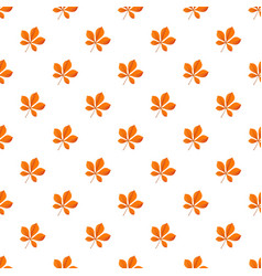 chestnut leaf pattern seamless vector image
