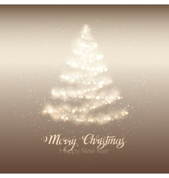 Christmas shining tree vector image