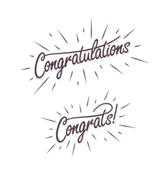 Congratulations Hand lettering vector image