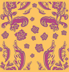 delicate flower seamless pattern vector image
