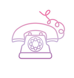 Dial operated telephone phone gradient icon vector