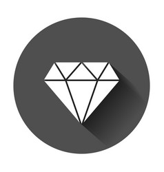 diamond jewel gem icon in flat style diamond vector image