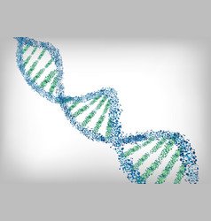 dna green blue background vector image