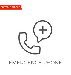 Emergency phone icon vector