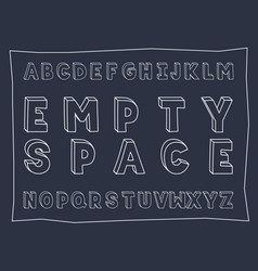 empty space handwritten bold font vector image