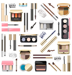 eyes makeup cosmetics vector image