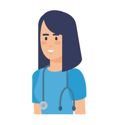 Female practitioner with stethoscope character vector