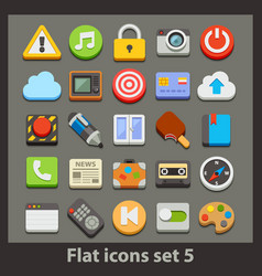 Flat icon-set 5 vector