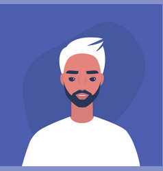 flat portrait a young millennial male vector image