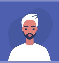 Flat portrait a young millennial male vector