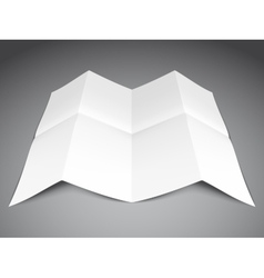 Folded Paper Sheet vector image