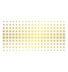 Galaxy gold halftone array vector