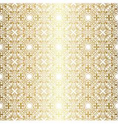 Golden vintage pattern vector