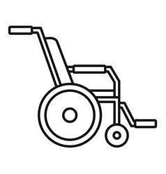Hospital wheelchair icon outline style vector
