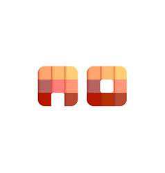 initial letters ao a o square pixel logo design vector image
